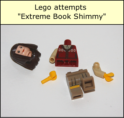 Lego Attempts Extreme Book Shimmy